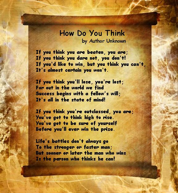 Download this Inspirational Poems How You Think picture